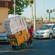 Carrying goods on a cart in Dubai, UAE — Stock Photo