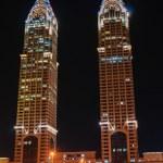 Постер, плакат: Night view of the Chrysler building in Duba