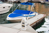 Pier for boats and yachts — Stock Photo