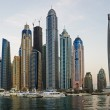 Dubai Marina at sunset — Stock Photo