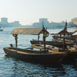 Traditional Abra ferries at the creek in Dubai, United Arab Emir — Stock Photo #26552553