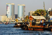 Ship in Port Said in Dubai UAE. — Stock Photo