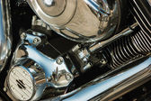 Close-up motorfiets motor — Stockfoto