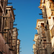 Stock Photo: Wind towers - the traditional Arabic architecture