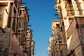 Wind towers - the traditional Arabic architecture — Stock Photo