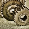 Foto Stock: Old gears