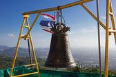 Bell asiatiche tradizione nel grande tempio di buddha complesso, thailandia — Foto Stock