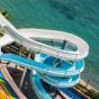 Stock Photo: Water slide on the beach