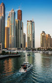 Dubai Marina at sunset. United Arab Emirates — Stock Photo