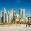 Stock Photo: Modern buildings in Dubai Marina