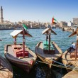 Traditional Abra ferries at the creek in Dubai, United Arab Emirates — Stock Photo
