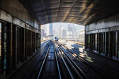 Metro subway tracks in the united arab emirates — Стоковое фото