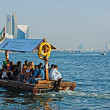 Traditional Abra ferries on November in Dubai — Stock Photo
