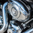 Close-up motorcycle engine — Stock Photo #31950995