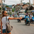 Stock Photo: Patong Banglroad with tourists in Phuket, Thailand