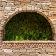 Arch in the old stone wall — Stock Photo