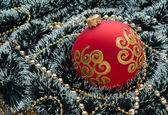 Christmas decoration on Christmas background — Stock Photo