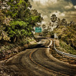 Steep road turn — Stockfoto