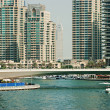 High rise buildings in Dubai Marina — Photo