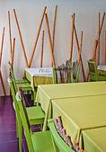 Interior of the restaurant — Stockfoto