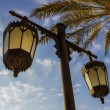 Arabic streetlight — Stock Photo