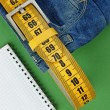 Jeans with meter belt — Stock Photo