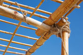 Bamboo trellis — Stock Photo