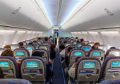 Interior of aircraft — Stock Photo