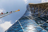Capital Gate Tower — Stock Photo