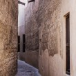 Narrow deserted street — Stock Photo