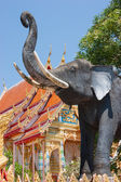 Statue of an elephant in southern Thailand — Stock Photo