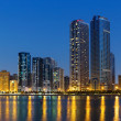 Night view of Sharjah — Stock Photo