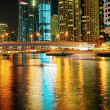 Dubai Marinat night. United Arab Emirates — Stock Photo #36342189