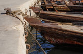 Traditional Abra ferries in Dubai — Stock Photo
