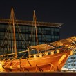 Old boat on display near fahidi fort at Dubai Museum, UAE — Stock Photo