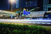 Metro subway station at night in Dubai United Arab Emirates — Stock Photo