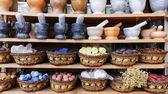 Épices sur le marché arab, souk — Photo