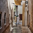 Stock Photo: Narrow street in the old city of Dubai UAE