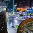 Top view of Dubai at night — Stock Photo