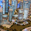 Layout of the city in luxuty Dubai Mall — Stock Photo