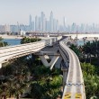 Monorail at the Palm Jumeirah in Dubai — Foto Stock