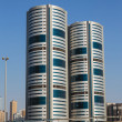 General view of modern buildings in Sharjah UAE — Stock Photo