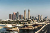 Views of the Dubai from the island of Palm Jumeirah — Stock Photo