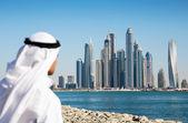 Modern buildings in Dubai Marina UAE — Stock Photo