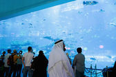 View of Dubai Aquarium inside Dubai Mall — 图库照片