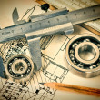 Stock Photo: Mechanical bearing