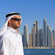 Portrait of a young Arabic man in Dubai Marina — Stock Photo