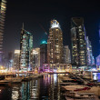 Modern buildings in Dubai Marinat night. UAE — Stock Photo #37167957