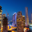 A view of Dubai Marina at Dusk from the top — Stock Photo