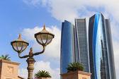 Skyscrapers in Abu Dhabi, United Arab Emirates — Stock Photo